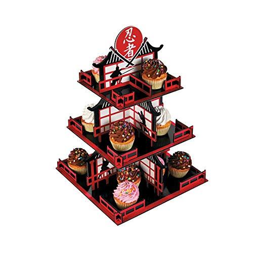 Ninja 3Etagen Cupcake-Ständer (je) (Etage Halloween 3)