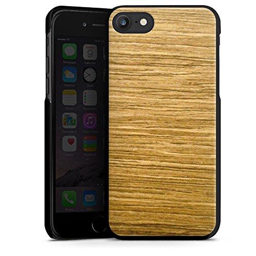 Apple iPhone X Silikon Hülle Case Schutzhülle Holz Look Eichenholz Maserung Hard Case schwarz