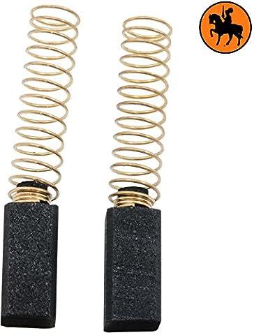 Balais de Charbon pour BLACK & DECKER KR70LSR ponceuse -- 6,35x6,35x13mm -- 2.4x2.4x5.1
