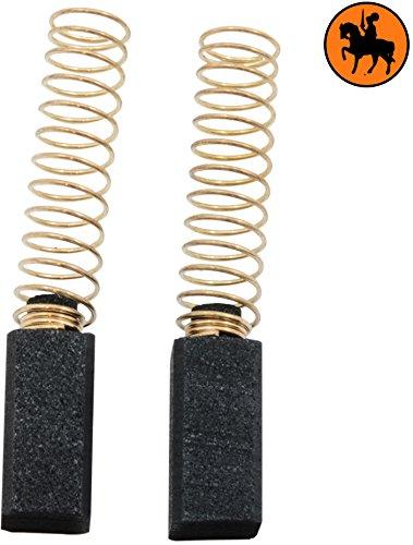 Preisvergleich Produktbild Kohlebürsten für BLACK & DECKER KS227 Kreissäge -- 6, 35x6, 35x13mm -- 2.4x2.4x5.1''