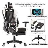 Computer Spielstuhl mit Fußstütze - Einstellbare Drehenende zum Haus Office Liegestuhl mit Hohen...