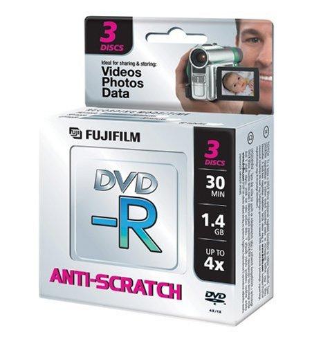 Fuji DVD-R Mini 8cn 1.4GB 4X DVD-Rohlinge 3er Pack Jewel Case 1,4 Gb Mini-dvd