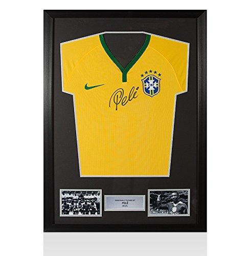 Framed-Pele-Signed-Brazil-Modern-Shirt-Nike-Front-Signed