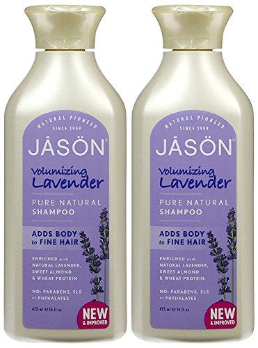 2Stück x Jason reinen, natürlichen Volumen Shampoo Lavendel-16Fl Oz - Jason Natural Lavendel Shampoo