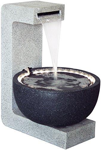 Dobar fontana da giardino di design con pompa e luci led, in poliresina