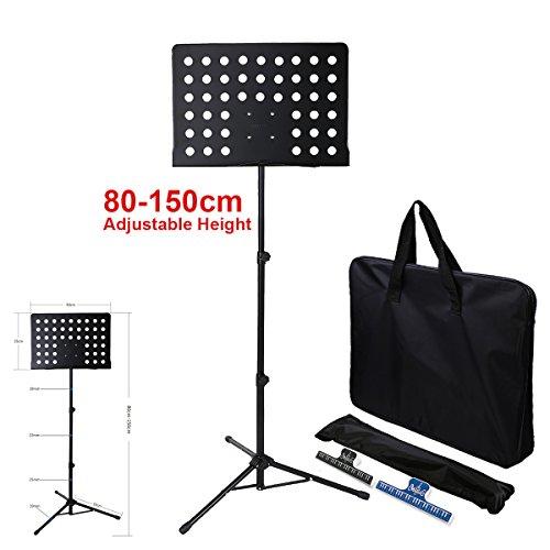 Spartiti supporto treppiede pieghevole per spartiti e borsa confezione del regolabile in altezza con borsa 50*35cm piastra