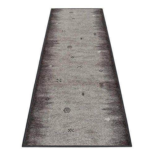 BilligerLuxus Teppichläufer Teppich Läufer Brücke Gabbeh Velours Grau 67cm, Längen:150 cm