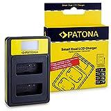PATONA Dual LCD Lader compatibel met Canon LP-E12 Batterij met USB-A, USB-C, Micro-USB-Aansluitingen