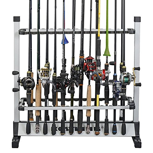 KastKing Rutenständer – Perfekte Angelruten-Halterung – Bis zu 24 Ruten – 24er Modell für alle Arten von Angelruten / 12er Modell für Sußwasserruten. ICAST preisgekrönte Marke