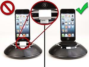 Teltec Adaptergehäuse für Apple Lightning-Adapter schwarz