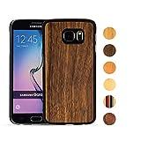 Samsung Galaxy S6 Hülle aus Holz (Schwarze Walnuss) - MediaDevil Artisancase
