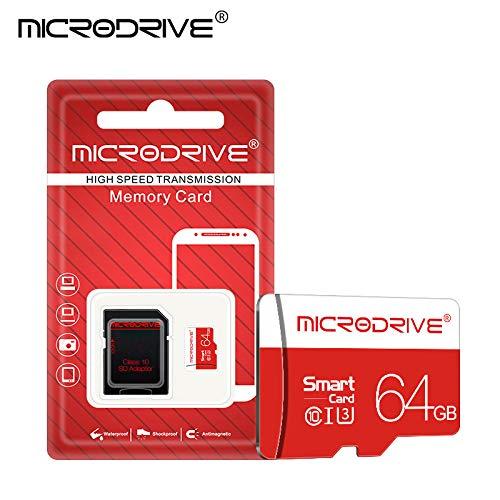 QYY Speicherkarte mit Adapter, High-Speed-C10-U3-TF-Karte MicroSD, 32/64/128 GB Amplim Micro SD-TF-Karten-Flash für Mobiltelefon/Fahrschreiber/Navigator,64GB -