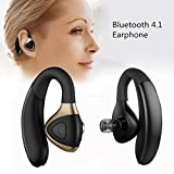 Xshuai 2107 Neues Design Hochleistungs-Mikrofon Wireless Bluetooth 4.1 Niedriger Verbrauch Headset Multi-Point Sport Stereo Kopfhörer Kopfhörer für Kompatibel Apple iPhone iPad, Samsung, HTC, LG und andere Handys iPhone MI (Schwarz) (Schwarz)