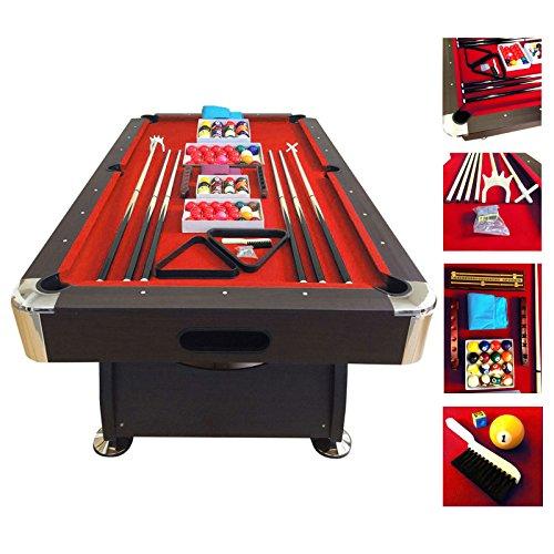 Billardtisch 7 ft Billard Billard-Spiel Messung 188 x 96 cm neue RED DEVIL