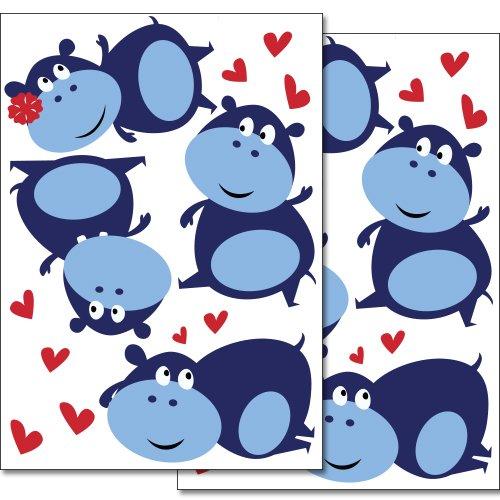 adesivi-da-parete-wandkings-simpatici-ippopotami-con-cuoricini-set-adesivi-26-adesivi-su-2-fogli-din