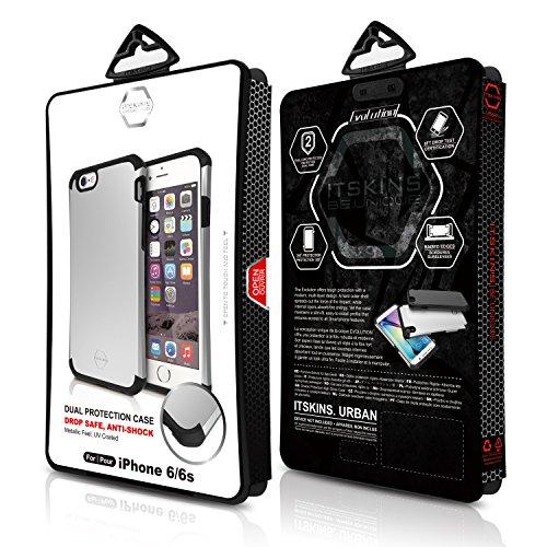 ITSKINS Iphone 6 Plus 6s Plus SPECTRUM Ultradünne Silikon Schutzhülle Transparent EVOLUTION Silber