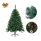 FROADP 180cm Künstlicher Grün PVC Weihnachtsbaum Tannenbaum Kiefernadel (Grün PVC, 180cm)