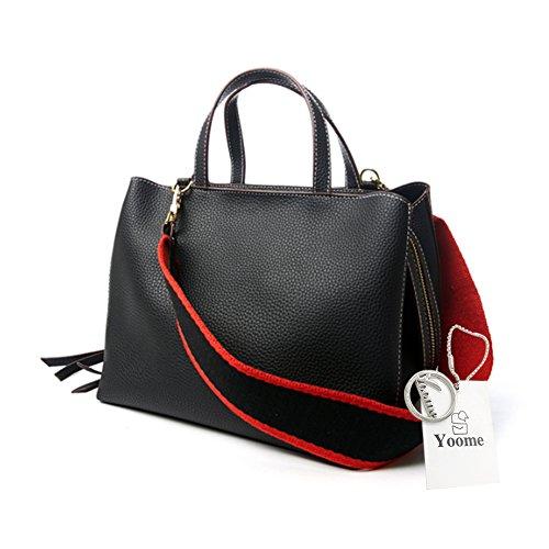 Yoome cinturón bolsa para las mujeres Top manija bolsa Vegano cuero elegante bolsas para las niñas Casual Bags - Negro