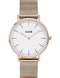 Cluse Montre Femme Analogique Quartz avec Bracelet en Acier Inoxydable – CL18112