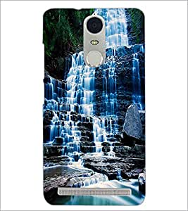PrintDhaba WaterFall D-1129 Back Case Cover for LENOVO K5 NOTE (Multi-Coloured)