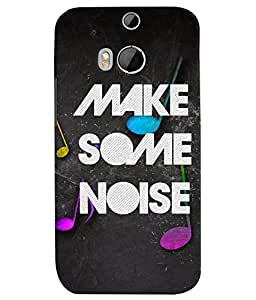 TOUCHNER (TN) Make Some Noise Back Case Cover for HTC One M8::HTC M8