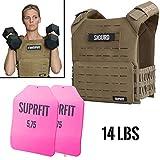 Suprfit Sigurd 3D Gewichtsweste - Laufweste inkl. Gewichtsscheiben, Gewicht: 2 x 2,6 oder 2 x 4 kg, Maximalgewicht: 17 kg, geeignet für Cross Training und Krafttraining