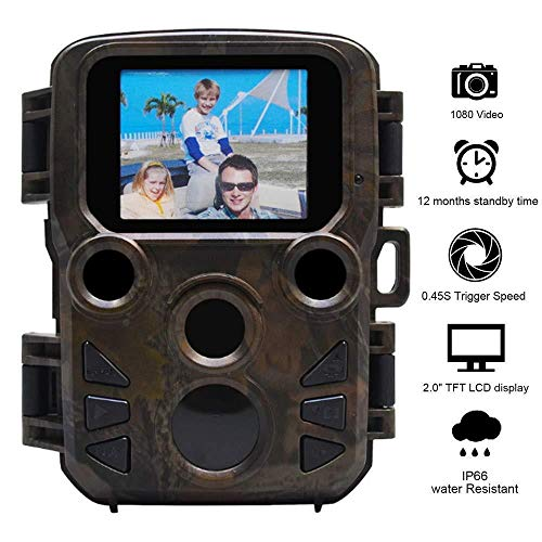 XINCH-MONITOR Mini Wild Hunting Cam Mit 12MP 1080P, 2,0 \