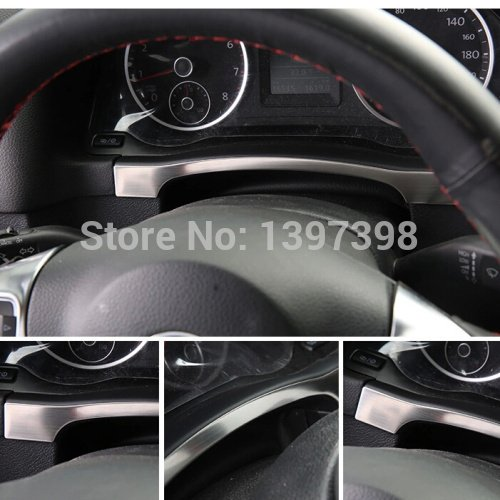 isremi (TM) für 2010–2015VW Volkswagen Tiguan Instrument Panel Armaturenbrett Trim Cover Aufkleber Edelstahl-Lünette Auto Zubehör (2010-autoaufkleber)