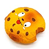 Elecenty Relaxing Toys, Kids Cartoon Squishy Chocolate Biscuit Slime Scented Stress Relief Cheap Kids Toys (Yellow)