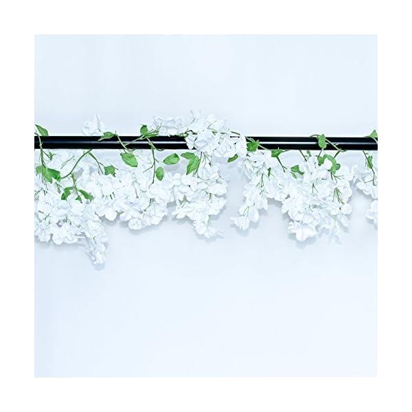 Guirnalda de Flores Artificiales de Li Hua con diseño de Gato y Cerezo, para Colgar, de Seda, para Boda, Fiesta…