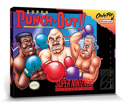 1art1 111114 Nintendo - Super Super Punch Out Poster Leinwandbild Auf Keilrahmen 40 x 30 cm