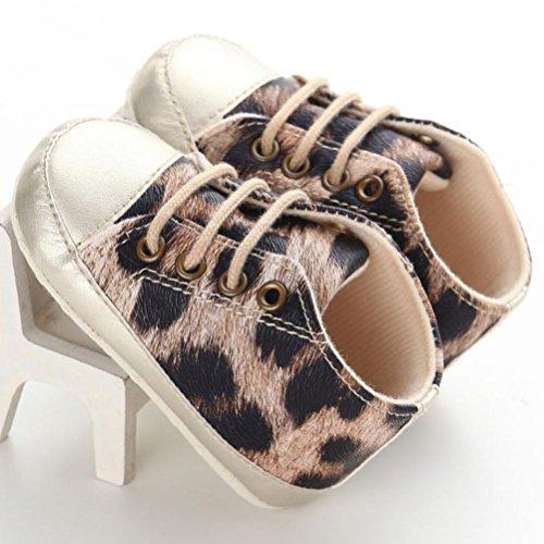 pour 0-18 mois Bébé fille, Amlaiworld chaussures léopard Marron