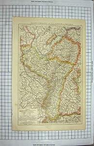 Bayern 1894 Speck Karten-freiburgs Luxemburg Colmar