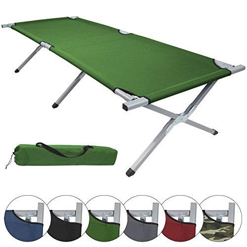 BB Sport GmbH & Co. KG Feldbett HOLIDAY LITE 200 x 70 x 45 cm Gästebett aus Aluminium Camping-Bett in vielen Farben, Farbe:green