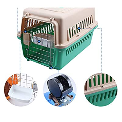 QYJpB Pet Air Box Dog Cat Consignment Box Travel Box Transport Cat Cage Two-Door Top-Load Pet Kennel Plastic Pets Kennel With Chrome Door?Available In A Variety Of Sizes? from QYJpB