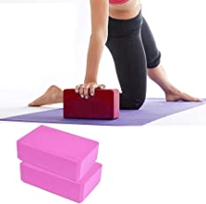 Yoga Brick Block by House of Quirk Set of 2 EVA Foam Block to Support and Deepen Poses, Improve Strength and Aid Balance and Flexibility