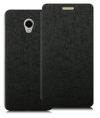 Heartly Premium Luxury PU Leather Flip Stand Back Case Cover For Lenovo VIBE P1 – Best Black