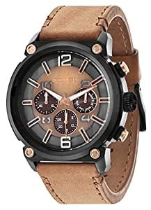 POLICE - P14378JSB-11 - Montre Homme - Quartz - Analogique - Bracelet cuir Marron