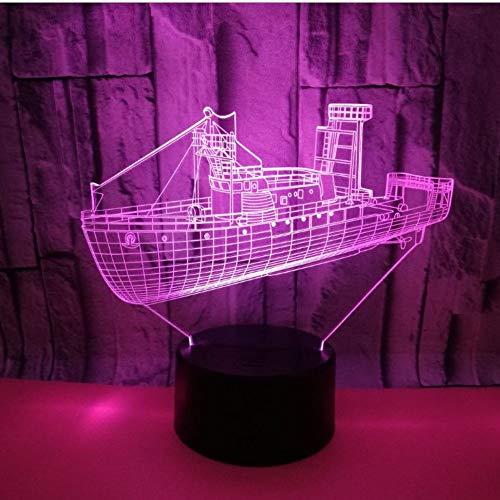 3D Optische Täuschung Nachtlicht Boot 7 Farben Einzigartige Lichteffekte Usb Power Touch Tischlampe Beste Geburtstagsgeschenke Für Jungen Mädchen Kinder Baby