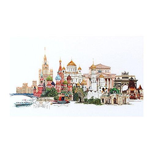 Thea Gouverneur Moskau auf Leinen Kreuzstich-Set, Mehrfarbig - Gouverneur Kreuzstich-thea