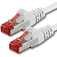 10m - Blanc - 1 pièce - CAT6 Câble Ethernet - Câble Réseau RJ45 10/100 / 1000 Mo/s câble de Patch LAN Câble |Cat 6 S-FTP PIMF 250 MHz Compatible avec Cat 5 / Cat 6a / Cat 7