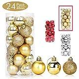 Aitsite Bolas de Navidad 4 cm Bolas de árbol de Navidad Adorno de Pared Colgante de Pared...