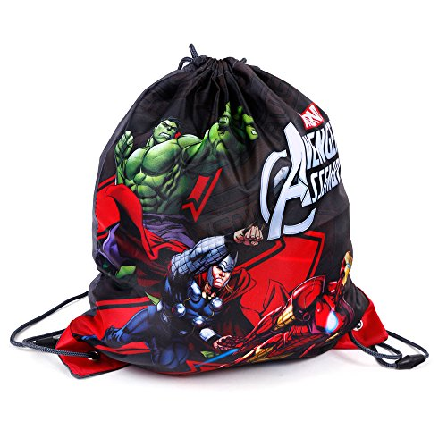 KINDER TURNBEUTEL / SPORTBEUTEL 36x32 cm - MARVEL AVENGERS COLLECTION - ANTHRAZIT