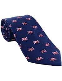 Small Union Jack Pattern Silk Tie