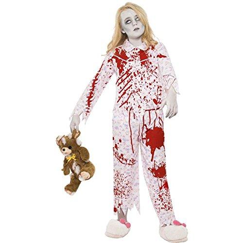 Mädchen Kostüme Zombie Halloween (Halloween Kinder Kostüm Zombie Pyjama Mädchen Gr.10 bis 12)