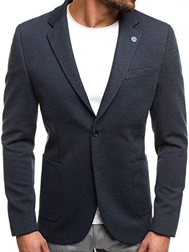 OZONEE Herren Sakko Jackett Business Blazer Anzugjacke Kurzmantel SIVIS PARIS 1703 XL/56 DUNKELBLAU