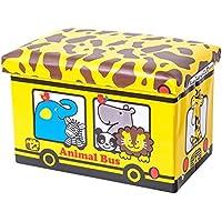 Preisvergleich für Folding Storage Seat Bench- 50 Liter Aufbewahrungsbox Kinderspielzeug Kleidung PU Aufbewahrungsbox mit Deckel Home Decor (Farbe : F)
