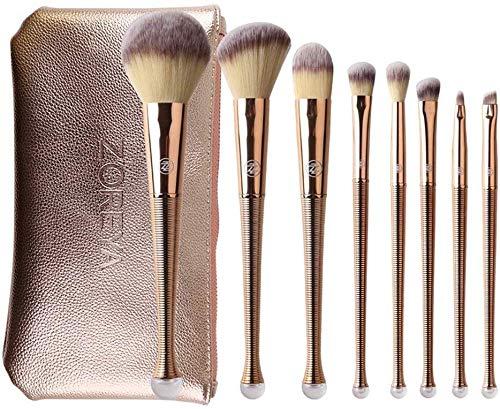 HZS Make-Up Pinsel Premium Set Rose Gold Reparatur-Werkzeug-Satz Von 7 Chemiefaser Covering Augenbraue Lippenbürste Champagne
