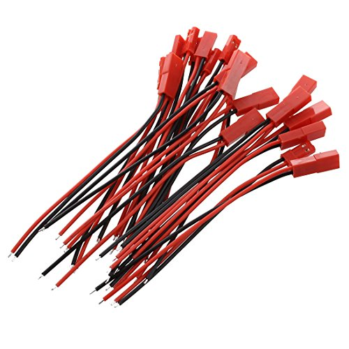 Rc-buchsen (Kabel Draht - TOOGOO(R)10 Paar RC Model Batterie JST Stecker Buchse Anschluss Kabel Draht de Rot und schwarz)
