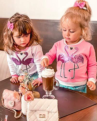 Camiseta Bebé Niña Sudadera sin Capucha de Manga Larga Top Ropa Invierno para Niñas Pequeñas Camiseta con Patrones… 4